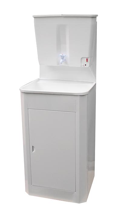 Дачный умывальник с водонагревателем из пластика (22 л, белый)