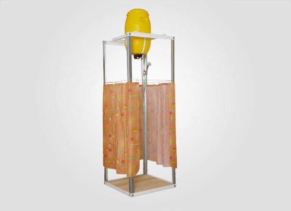 Дачный летний душ с подогревом (60 л)