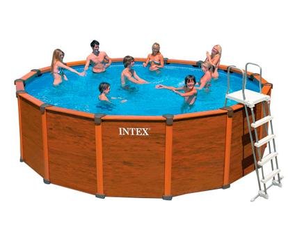 Бассейн Wood-Grain Intex 28392/54930 с комплектом 569x135 см