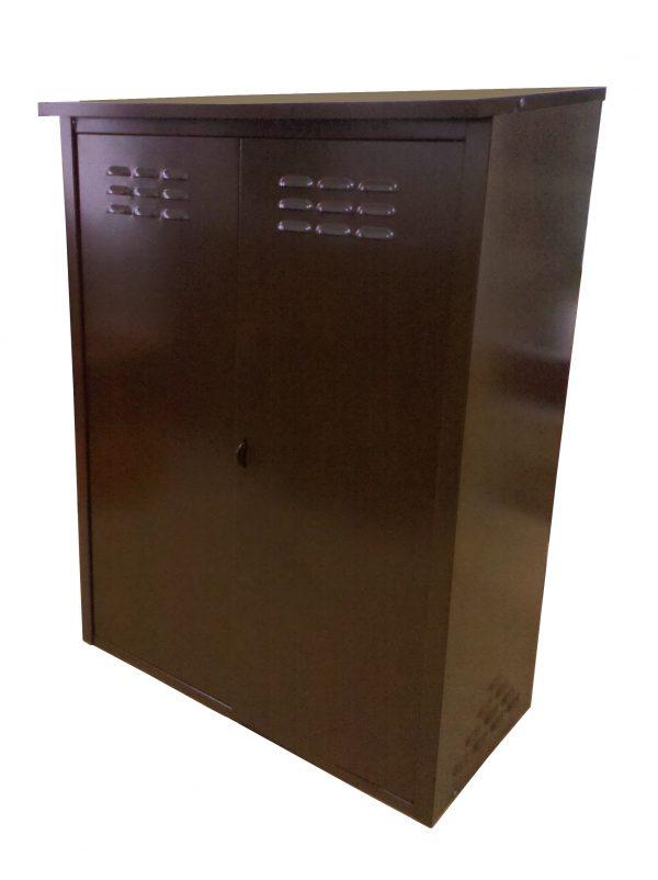 Шкаф для 2-х газовых баллонов 50л Коричневый