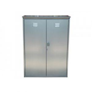 Шкаф для 2-х газовых баллонов 50л серый