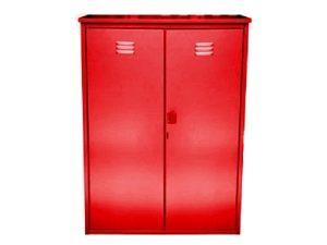 Шкаф для 2-х газовых баллонов 50л Красный