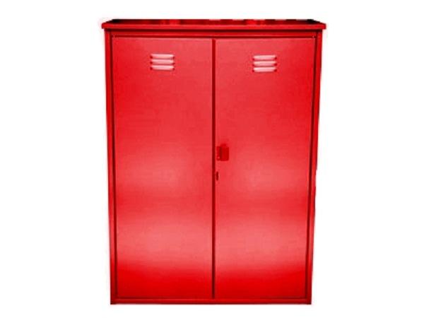 Ящик для газовых баллонов красный