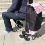 Тележка с сумкой и сиденьем C-302, 50 кг