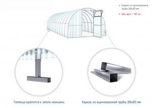 Теплица Агросфера Стандарт- Плюс 4м (ТЦ-67 20х20)