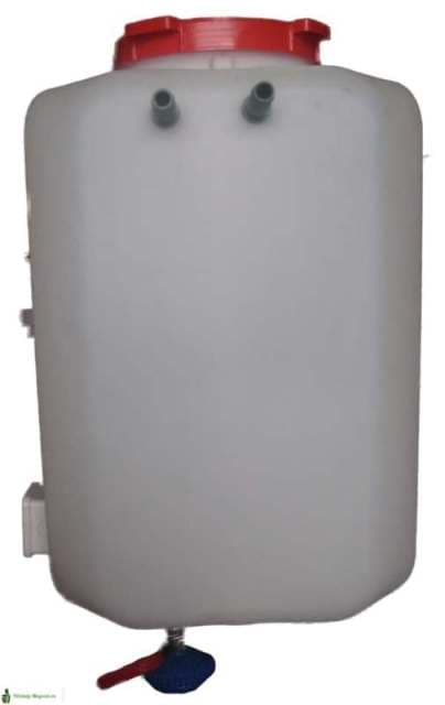 Бак для душа с подогревом и терморегулятором Садко (50л)