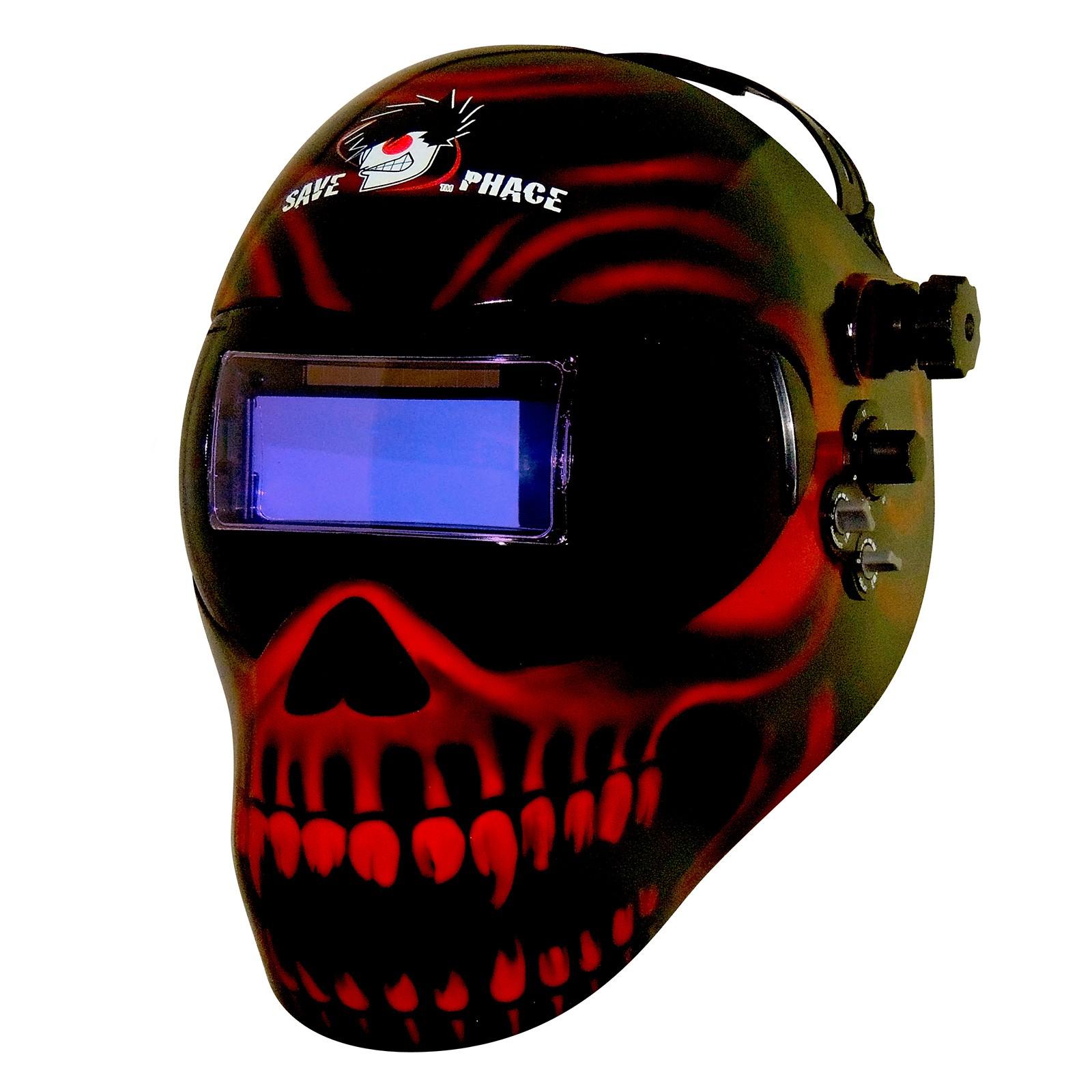Сварочная маска с рисунком