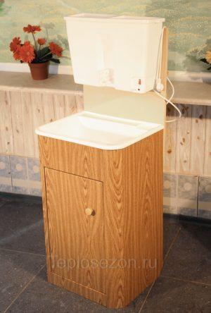 Дачный умывальник с водонагревателем из пластика (22 л, орех)