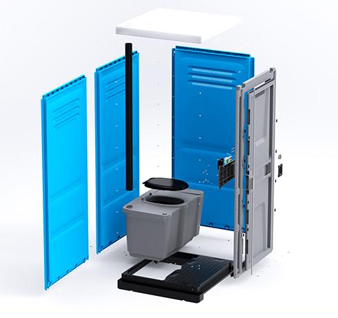 Туалетная кабина Lex Group Toypek синяя