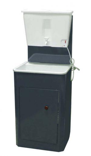 Дачный умывальник с водонагревателем из пластика (22 л, асфальт)