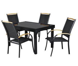 Стол и 6 стульев + 2 складных стула Garden4you