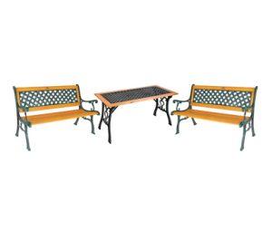 Стол и 2 кресла + 2 скамьи Garden4you SH6674