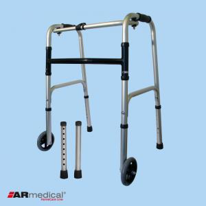 Ходунки медицинские ARmedical AR008 с колесами (шагающие-складные)