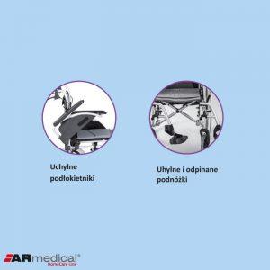 Инвалидное кресло-коляска ARmedical AR300 ERGONOMIC