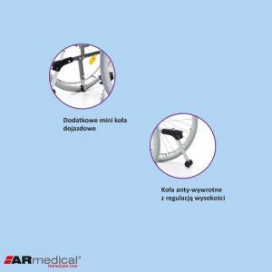 Инвалидная кресло-коляска ARmedical AR350 PRESTIGE