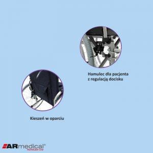 Инвалидная кресло-коляска ARmedical AR405 REGULAR (сталь)